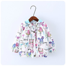 Girl coat 2018 new style fashion children's printing sun protection clothing cartoon Europe and the United States coat jacket