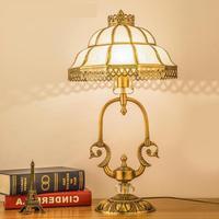 Корона LED Настольная лампа для ресторан столовая современный офисный Рабочий стол свет американский Стиль изысканный h65 Медь торшер