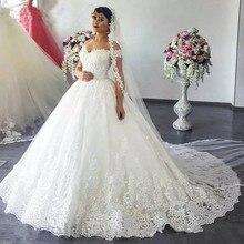 kejiadian White Ivory Wedding Dress 2018 Ball Gown