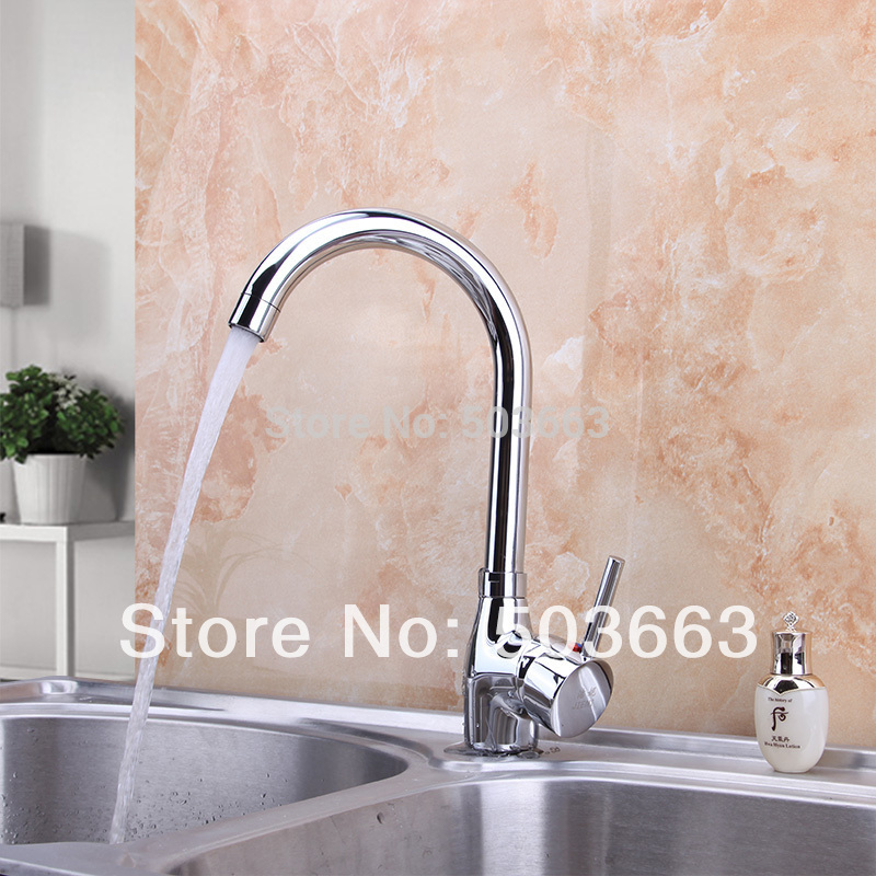 Polished Chrome Brass Water Kitchen Swivel Swivel Spout Handles Wash Basin Sink Vessel Kitchen Torneira Cozinha