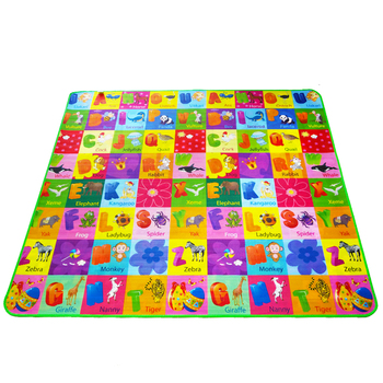 Double Sided Animal Car+Fruit Letter Baby Play Mats Crawling Pad Kids Game Carpet Toys For Children Developing Rug DropShipping