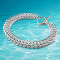 Men's brand  new bracelet jewelry,Fashion 925 Sterling Silver link chain bracelet for man,silver bracelet for man