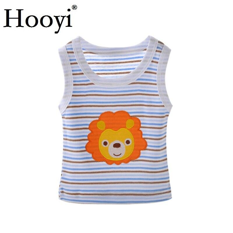 2019 Summer Baby Boy Tops Sleeveless Girls Vest Tanks Camisoles Newborn Undershirts Children T-Shirt Cotton Tee Shirts 0-3Y 2