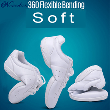 New Kids Girls White Sneakers Modern/Jazz/Hip Hop Dance Shoes Competitive Aerobics Shoes Soft Sole Fitness Gym Shoes цена