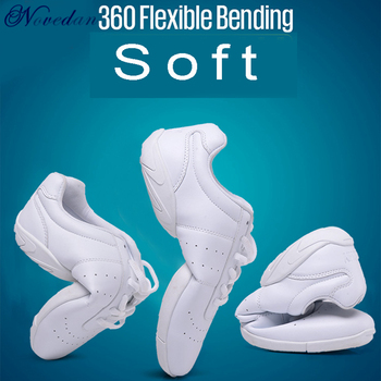 New Kids Girls White Sneakers Modern/Jazz/Hip Hop Dance Shoes Competitive Aerobics Shoes Soft Sole Fitness Gym Shoes new style competitive aerobics shoes skills cheerleading shoes group gym shoes competition shoes national fitness shoes