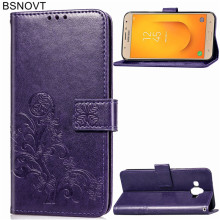 For Samsung Galaxy J7 Duo Case Silicone PU Leather Wallet alaxy Cover GJ7 Phone Bag