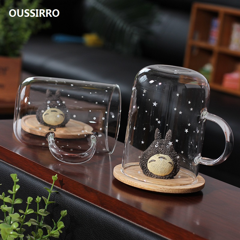 OUSSIRRO Ready Player One Creative TOTORO CARTOON GLASS Mugs Cup Office Water / Milk / Coffee Cup gift for boyfriend on anniversary