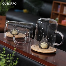 OUSSIRRO Ready Player One Creative TOTORO CARTOON GLASS Mugs Cup Office Water / Milk Coffee