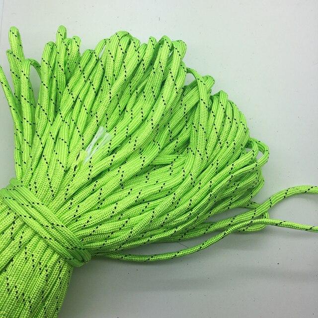 10 метров/много цветовой гаммы Паракорды Браслеты Веревка 7 Strand парашют шнур Кемпинг Пешие прогулки зеленый +