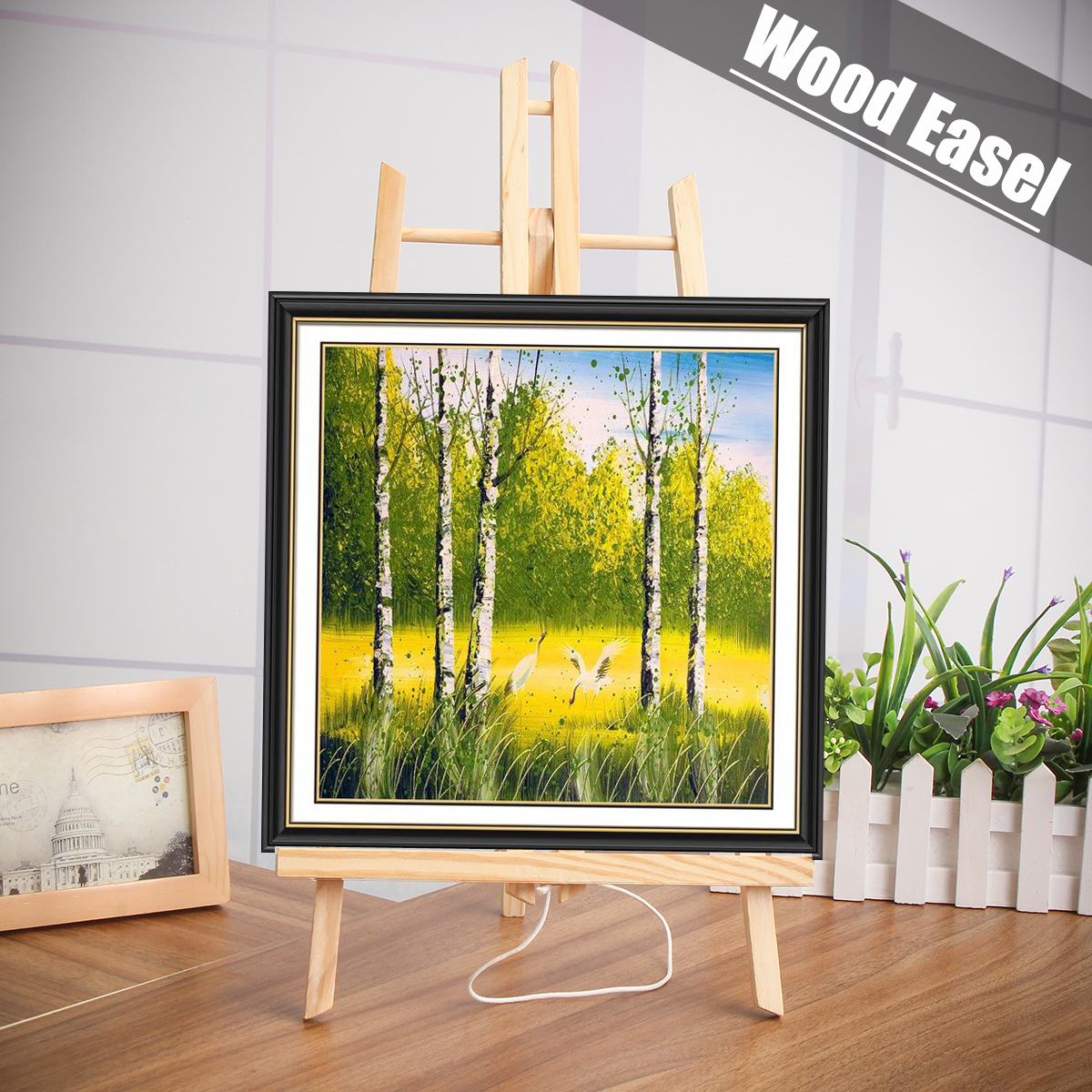 27cm*50cm A4/A3 SizeTable Artist Wooden Easel Calendar Display Rack Wedding  Card Triangle Stand Holder For DIY Party Decor27cm*50cm A4/A3 SizeTable Artist Wooden Easel Calendar Display Rack Wedding  Card Triangle Stand Holder For DIY Party Decor
