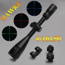 Hawke 4-16×50 AOIR Jagd Scopes RGB Beleuchtet Optikanblick Hawke Absehen Umfang Volle Größe Tactical Scope Für Airsoft Luftdruckwaffen