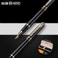 HERO 1179 Luxury 10K Golden Nib Fountain Pen 0 5mm High Quality Business Gift Pens With