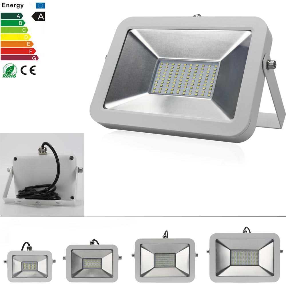 100% Quality Rgb Led Flood Light Waterproof 20w 30w 50w Led Floodlights Colorful Remote Control Reflector Outdoor Wall Lamp Garden Projector Floodlights