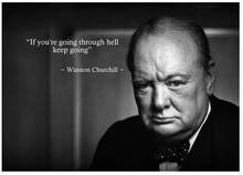 Winston Churchill Inspirational Photo War Hero Motivational Quote Art Wall Decor Silk Print Poster