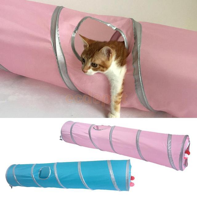 jouet chat tube