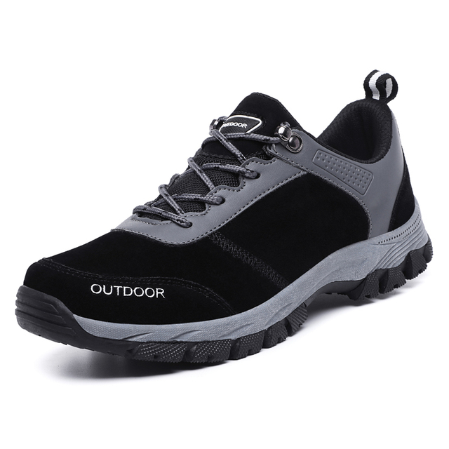 Clorts Hiking Shoes Men Outdoor Hiking Boots Waterproof Trekking Shoes Breathable Climbing Shoes Anti-slippery Mountain Shoes