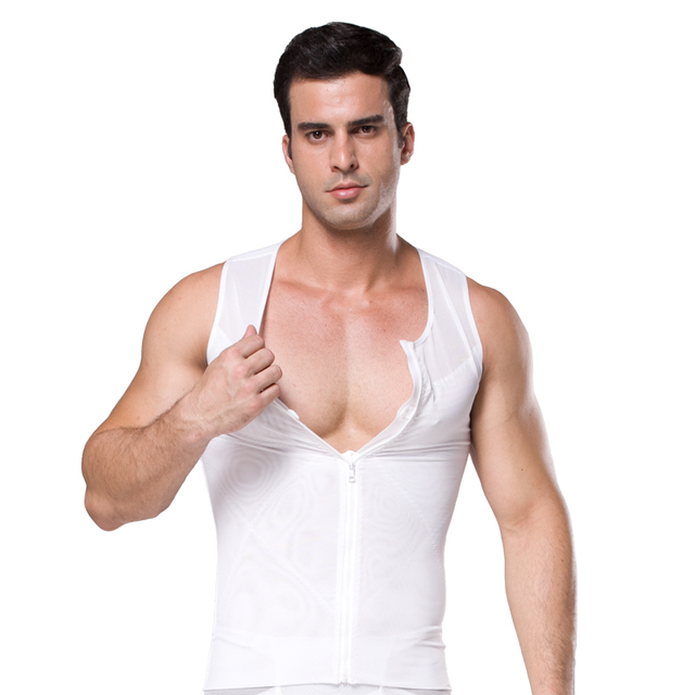 7c938e06d6 Hot Sale Hot Shapers vest Tummy Control Belly Body Shapewear zipper Stretch  Mesh Slimming Corset For