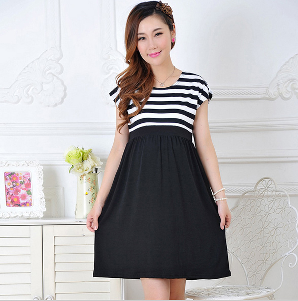 Compare prices on maternity casual dresses online shoppingbuy maternity dress casual cotton summer dress maternity wear plus size patchwork stripe pattern pregnancy dress ombrellifo Image collections