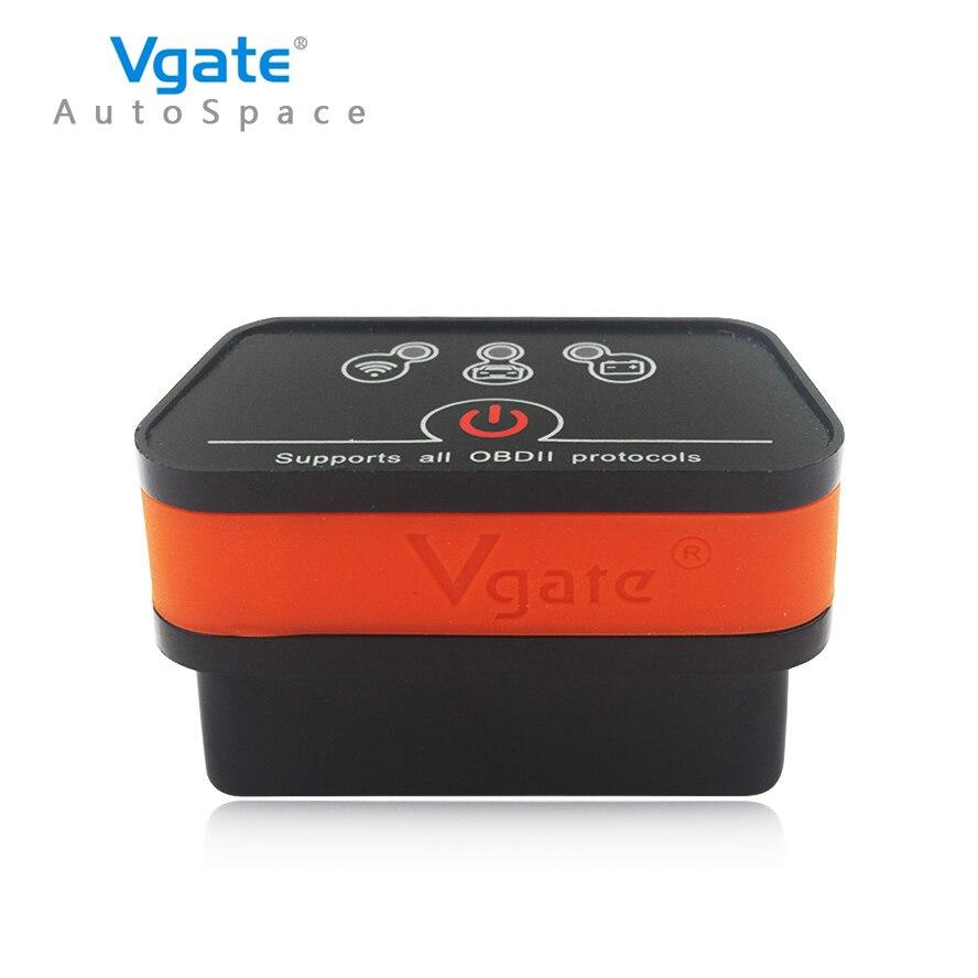 Prix pour Vgate iCar2 WIFI Universal ELM 327 V2.1 OBDII Voiture Lecteur Scanner ELM327 WI-FI OBD 2 II OBD2 EOBD Auto Scan Outil V 2.1 Scanner nouveau