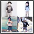 boys long sleeved t shirts 100% children's cotton clothing autumn and winter bear cartoon t shirts boys clothes girls clothes