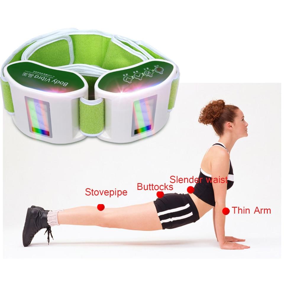 Top quality Electric Relaxation Body waist arm leg massage belt loose weight BurningVibration heating massage rejection fat