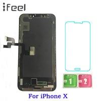 AMOLED для iPhone X ЖК дисплей + сенсорный экран с дигитайзером Замена сборки Запасные части черный