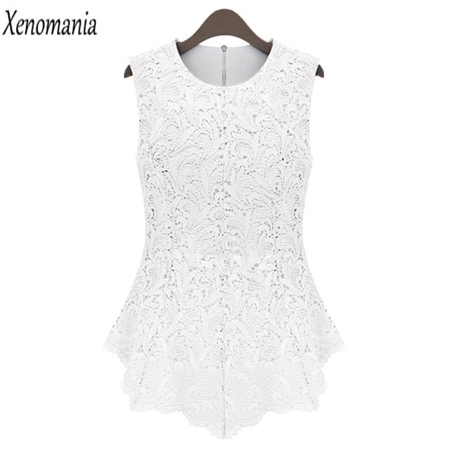 026b4edcf51 Peplum Top White Lace Blouse Women Blouses 5XL 2017 Korean Summer Blusa  Vintage Body Shirt Plus Size Blusas Camisa Feminina Sexy