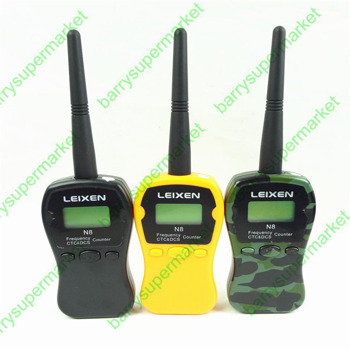 ФОТО 1pcs LEIXEN handheld frequency counter Frequency measurement device N8 interphone Digital Analog Tone same with I-77