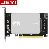 JEYI U2BOX U2X16 U 2 SFF 8639 Adapter PCIe U2 2 5 SSD PCI E X4