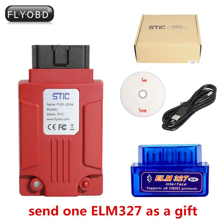 FVDI J2534 Strumento di Diagnostica per F-o-r-d & Mazda Supporto On-Line di Programmazione del Modulo Supporta La Maggior Parte Dei di ELM327 Software