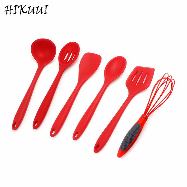 1pc Variety Of Styls Kitchen Spoon, Spatula, Egg Beater, Heat Resistant  Silicone