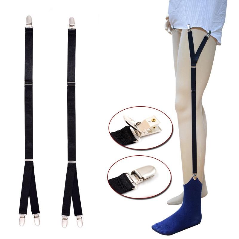 Suspenders for Men Shirt Nylon Shirt Stays Gentleman Leg Braces for Shirts Suspender Gentleman Men Shirt Holder Garters