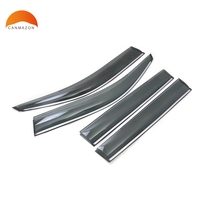 For TOYOTA PRADO J150 J 150 2010 2015 ABS Plastic Window Visor Sun Visor Door Visor Moulding Rain Shield stickers 4 PCS