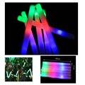 10 Pçs/lote 2016 novo 48 cm colorido brilho luz varas tuba esponja de espuma Flash vara Concerto de Natal Fontes Do Partido do Dia Das Bruxas brinquedos