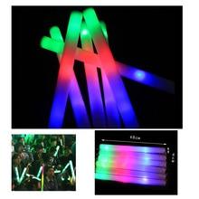 10Pcs/Lot 2016 new 48cm colorful glow light sticks tuba sponge foam Flash stick Halloween Christmas Concert Party Supplies toys