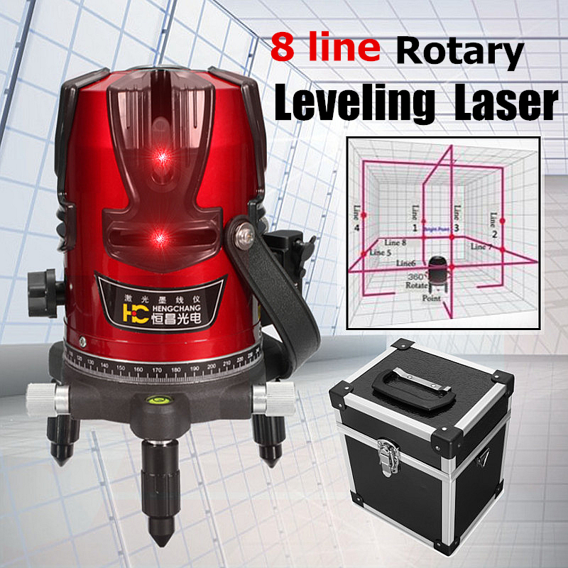 High Quality 8 Lines Red Cross Line Laser Level Highlight 3D 360 Degree Rotation Auto Self-Leveling Horizontal Vertical Tool leter 3d red laser level self leveling 12 lines 360 degree horizontal