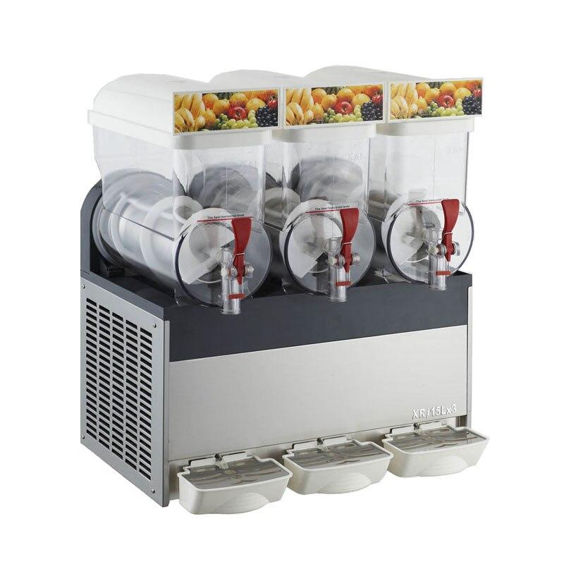 15L Three Tank COMMERCIAL Slushie Machine Slurpee Frozen Juice Slush Maker Granita