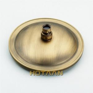 Image 4 - Free shipping 8 inch 20x20cm Round OverHead Rain Shower Head, Copper Shower Head, Anitque Brass Bathroom Shower,Chuveiro YT 5113