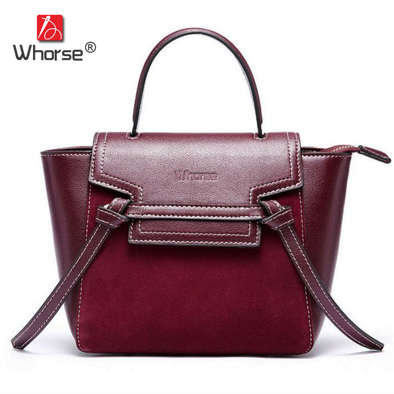 High Quality Trapeze Bags Genuine Leather Women Handbag Famous Brand Designer Handbags For Girls Shoulder Messenger Bag W09600 women messenger bags designer handbags high quality 2017 new belt portable handbag retro wild shoulder diagonal package bolsa