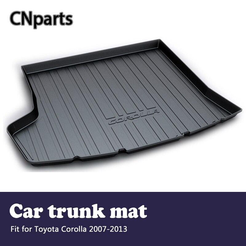 CNparts 1 Set tapis de coffre arrière de voiture pour Toyota Corolla E140/E150 2007 2008 2009 2010 2011 2012 2013 accessoires de tapis anti-dérapant