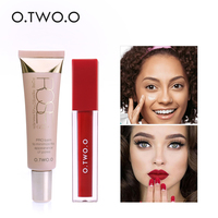 O TWO O Makeup Set Cream Face Primer Lip Gloss Oil Control Concealer Cream Waterproof Long