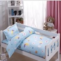 Three Pcs Baby Beding Crib Set Cartoon