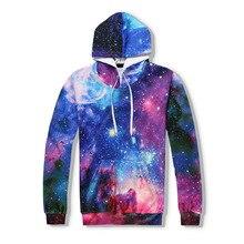 3D Hoodies Print Galaxy Space Bling Stars Women Men Pullover Streetwear Hooded Sweatshirts Casual Fashion Clothes Harajuku