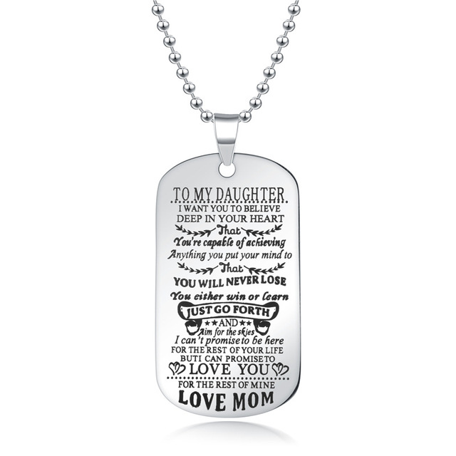 To My Son Daughter I Want You To Believe Love Dad Mom Pendant Family Necklace Jewelry 1