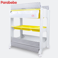 PP Baby Care Products Nappy Changing Table Double Use PVC Baby Bath Tub Baby Bathtub Shower Tables Infant Baby Changing Mat Pad
