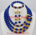 Nigerian Coral Jewelry Sets Coral Beads Necklace Set Nigerian African Wedding Beads Jewelry Sets Free Shipping HD302-3