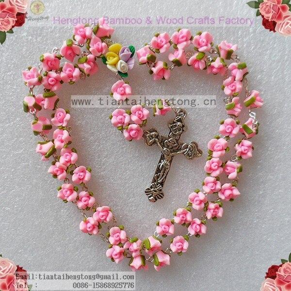 20 pçs set Handmade Rosário católico colar