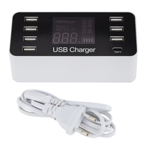 Многопортовое настольное умное зарядное устройство USB Type C 5 В/8A с 7 портами