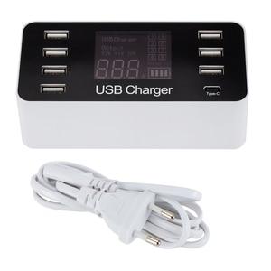 Image 1 - Многопортовое настольное умное зарядное устройство USB Type C 5 В/8A с 7 портами