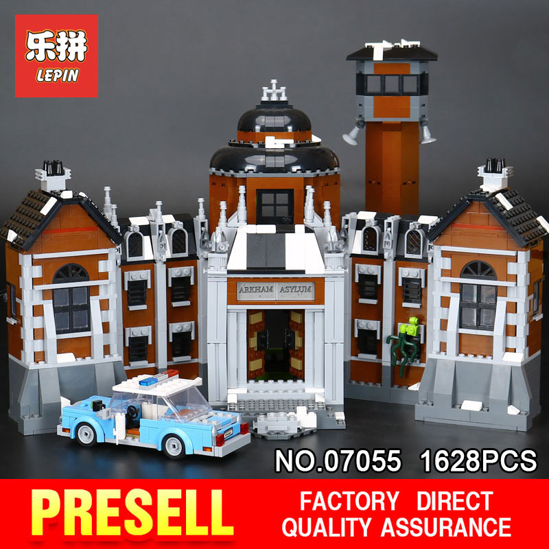 1628Pcs Lepin 07055 Genuine Series Batman Movie Arkham Asylum Building Blocks Bricks Toys Model with 70912 for Children gift a toy a dream new decool 7124 genuine series marvel batman movie arkham asylum building blocks bricks toys with